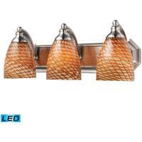 ELK Lighting Vanity 3 Light Bath Bar in Satin Nickel 570-3N-C-LED