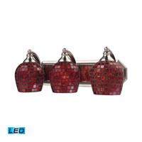 ELK Lighting Vanity 3 Light Bath Bar in Satin Nickel 570-3N-CPR-LED