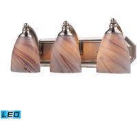 ELK Lighting Vanity 3 Light Bath Bar in Satin Nickel 570-3N-CR-LED