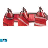 ELK Lighting Vanity 3 Light Bath Bar in Satin Nickel 570-3N-CY-LED