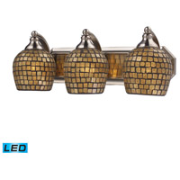 ELK Lighting Vanity 3 Light Bath Bar in Satin Nickel 570-3N-GLD-LED