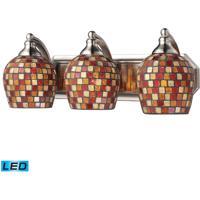 ELK Lighting Vanity 3 Light Bath Bar in Satin Nickel 570-3N-MLT-LED
