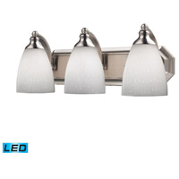 ELK Lighting Vanity 3 Light Bath Bar in Satin Nickel 570-3N-WH-LED