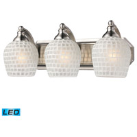 ELK Lighting Vanity 3 Light Bath Bar in Satin Nickel 570-3N-WHT-LED