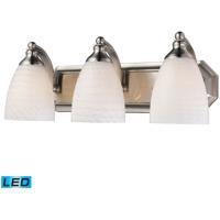ELK Lighting Vanity 3 Light Bath Bar in Satin Nickel 570-3N-WS-LED