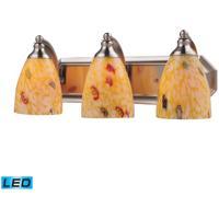 ELK Lighting Vanity 3 Light Bath Bar in Satin Nickel 570-3N-YW-LED