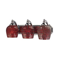 Vanity 3 Light 20 inch Polished Chrome Bath Bar Wall Light in Standard, Copper Mosaic Glass