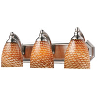 ELK 570-3N-C Vanity 3 Light 20 inch Satin Nickel Bath Bar Wall Light in Standard, Cocoa Glass