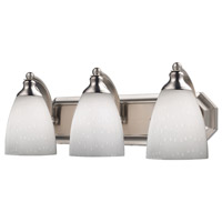 ELK 570-3N-WH Vanity 3 Light 20 inch Satin Nickel Bath Bar Wall Light in Standard, Simply White Glass