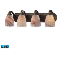 ELK Lighting Vanity 4 Light Bath Bar in Aged Bronze 570-4B-CR-LED