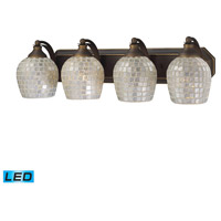 ELK Lighting Vanity 4 Light Bath Bar in Aged Bronze 570-4B-SLV-LED