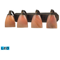 ELK Lighting Vanity 4 Light Bath Bar in Aged Bronze 570-4B-SY-LED