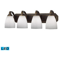 ELK Lighting Vanity 4 Light Bath Bar in Aged Bronze 570-4B-WH-LED