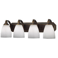 ELK Lighting Vanity 4 Light Bath Bar in Aged Bronze 570-4B-WH