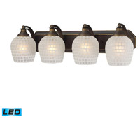 ELK Lighting Vanity 4 Light Bath Bar in Aged Bronze 570-4B-WHT-LED