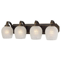 ELK Lighting Vanity 4 Light Bath Bar in Aged Bronze 570-4B-WHT