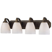 ELK Lighting Vanity 4 Light Bath Bar in Aged Bronze 570-4B-WS
