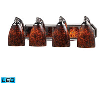 ELK Lighting Vanity 4 Light Bath Bar in Polished Chrome 570-4C-ES-LED