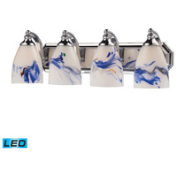 ELK Lighting Vanity 4 Light Bath Bar in Polished Chrome 570-4C-MT-LED