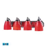 ELK Lighting Vanity 4 Light Bath Bar in Polished Chrome 570-4C-SC-LED
