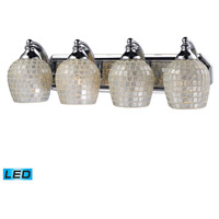 ELK Lighting Vanity 4 Light Bath Bar in Polished Chrome 570-4C-SLV-LED
