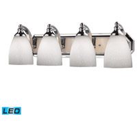 ELK Lighting Vanity 4 Light Bath Bar in Polished Chrome 570-4C-WH-LED