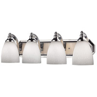 ELK Lighting Vanity 4 Light Bath Bar in Polished Chrome 570-4C-WH