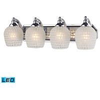 ELK Lighting Vanity 4 Light Bath Bar in Polished Chrome 570-4C-WHT-LED