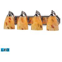 ELK Lighting Vanity 4 Light Bath Bar in Polished Chrome 570-4C-YW-LED