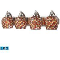 ELK Lighting Vanity 4 Light Bath Bar in Satin Nickel 570-4N-MLT-LED