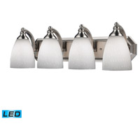ELK Lighting Vanity 4 Light Bath Bar in Satin Nickel 570-4N-WH-LED