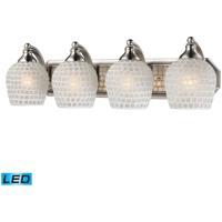ELK Lighting Vanity 4 Light Bath Bar in Satin Nickel 570-4N-WHT-LED