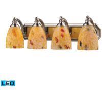 ELK Lighting Vanity 4 Light Bath Bar in Satin Nickel 570-4N-YW-LED