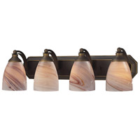 ELK 570-4B-CR Bath and Spa 4 Light 27 inch Aged Bronze Vanity Light Wall Light in Creme, Incandescent