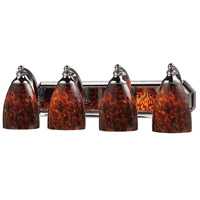 ELK 570-4C-ES Mix and Match 4 Light 27 inch Polished Chrome Vanity Light Wall Light in Espresso, Incandescent