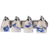 ELK 570-4C-MT Bath and Spa 4 Light 27 inch Polished Chrome Vanity Light Wall Light in Mountain Glass, Incandescent