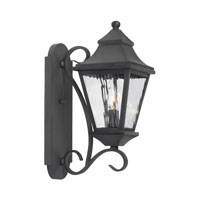 ELK Lighting East Bay Street 2 Light Outdoor Sconce in Charcoal 5700-C