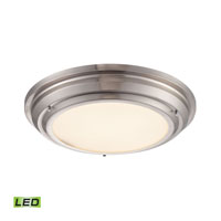 ELK Lighting Sonoma LED Flush Mount in Brushed Nickel 57001/LED