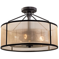 Diffusion 3 Light 18 inch Oil Rubbed Bronze Semi Flush Mount Ceiling Light in Incandescent