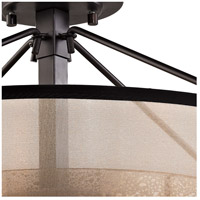 ELK 57024/3 Diffusion 3 Light 18 inch Oil Rubbed Bronze Semi Flush Mount Ceiling Light in Incandescent alternative photo thumbnail