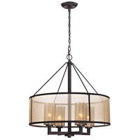 ELK Lighting Diffusion 4 Light Chandelier in Oil Rubbed Bronze 57027/4