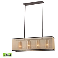 ELK 57028/4-LED Diffusion LED 9 inch Oil Rubbed Bronze Chandelier Ceiling Light