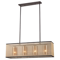 Diffusion 4 Light 34 inch Oil Rubbed Bronze Chandelier Ceiling Light in Standard