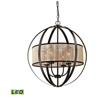 Diffusion LED 24 inch Oil Rubbed Bronze Chandelier Ceiling Light