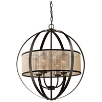 Diffusion 4 Light 24 inch Oil Rubbed Bronze Chandelier Ceiling Light in Standard