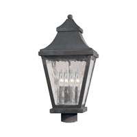 ELK Lighting East Bay Street 4 Light Outdoor Post Light in Charcoal 5703-C