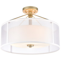ELK 57034/3 Diffusion 3 Light 18 inch Aged Silver Semi Flush Mount Ceiling Light