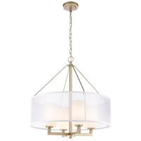 ELK 57037/4 Diffusion 4 Light 24 inch Aged Silver Pendant Ceiling Light