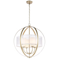 ELK 57039/4 Diffusion 4 Light 24 inch Aged Silver Pendant Ceiling Light