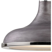 ELK 57081/1 Rutherford 1 Light 15 inch Polished Nickel with Weathered Zinc Pendant Ceiling Light alternative photo thumbnail